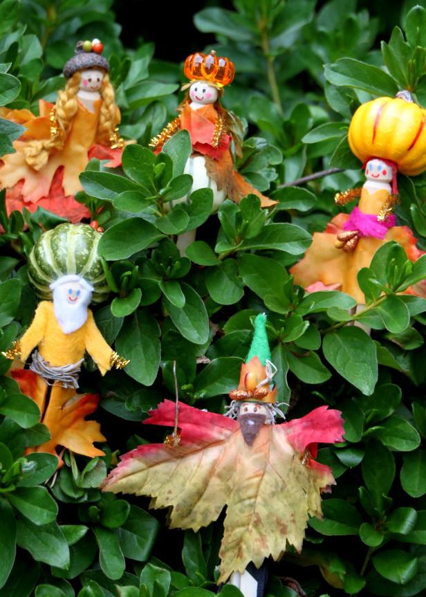 Gente de hoja para el jardín 1