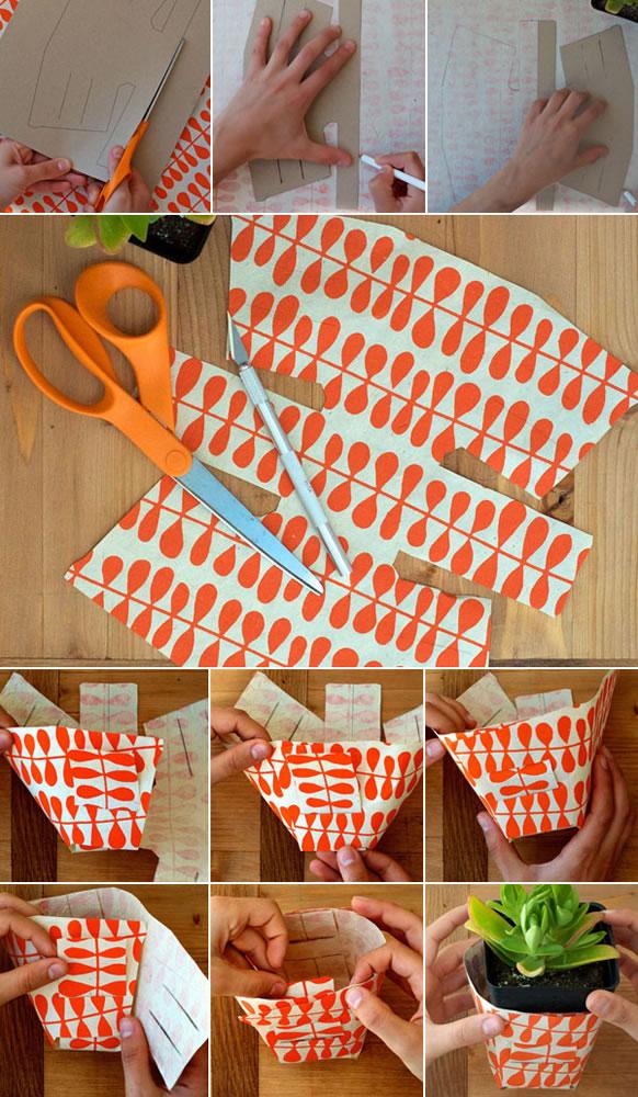 Envoltorio de papel para macetas 2