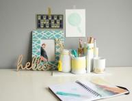 imagen Organizador de escritorio con materiales reciclados