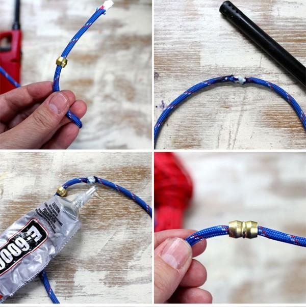 Pulseras de cuerda y metal 2