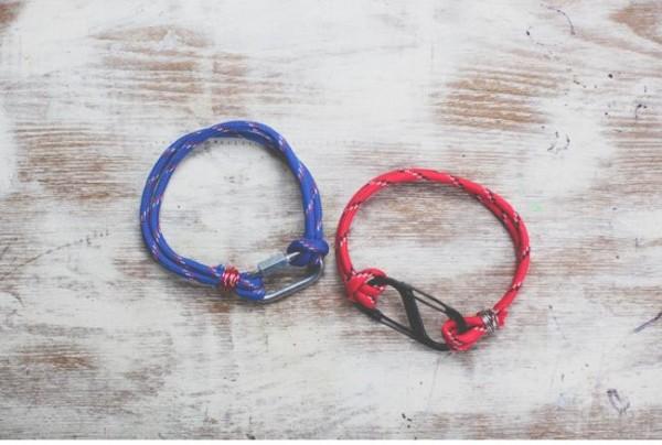 Pulseras de cuerda y metal 3