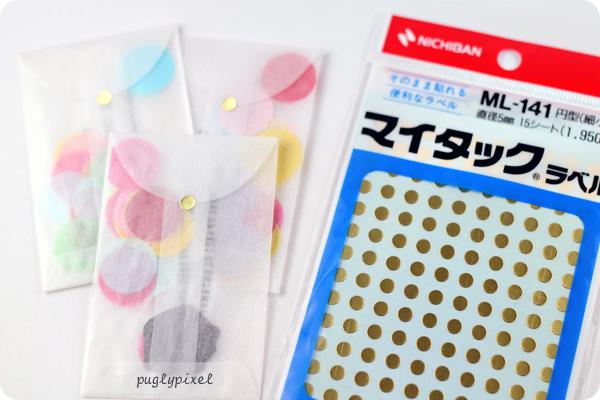Tarjetas personalizadas con confeti 3
