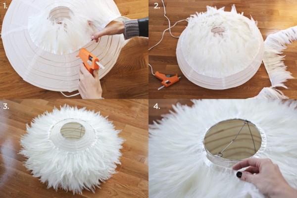 Como Hacer Una Elegante Lampara De Plumas Guia De Manualidades - Ideas-para-hacer-lamparas