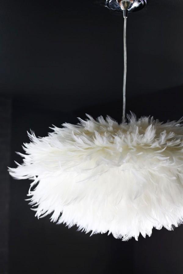 Lámpara con plumas 4