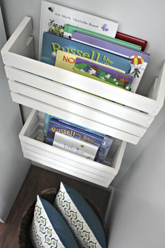 Estanter a para libros hecha con una caja de madera gu a - Estanterias de madera para libros ...