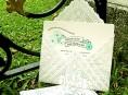 imagen Sobres para invitaciones con blondas de papel