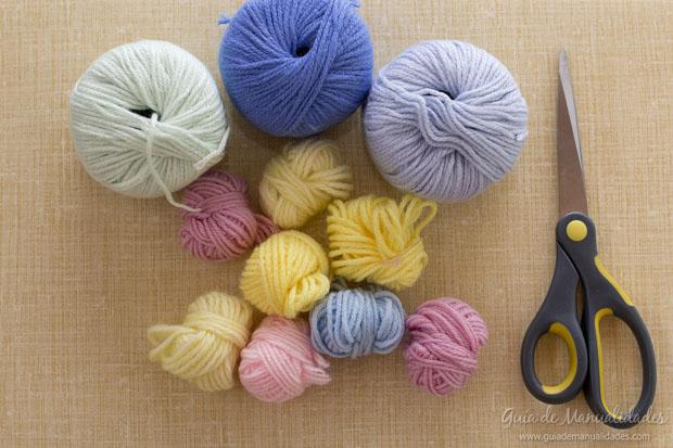 Pompones multicolor 2