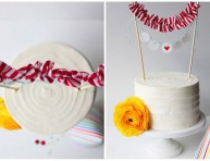 imagen Decoración para tortas con tela
