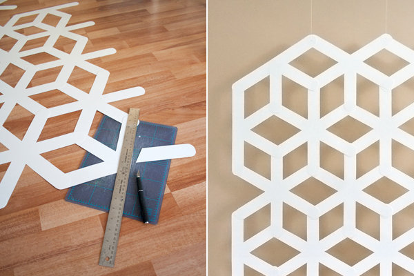 Dise o geom trico para paredes gu a de manualidades for Disenos para paredes