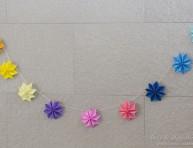 imagen Guirnalda con estrellas de papel