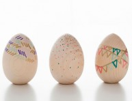 imagen Huevos de madera para pascua