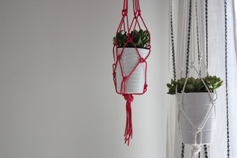 Red para colgar macetas DIY 1
