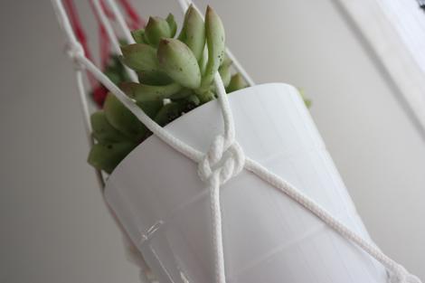 Paso a paso red para macetas colgantes tus plantas - Macetas para colgar ...