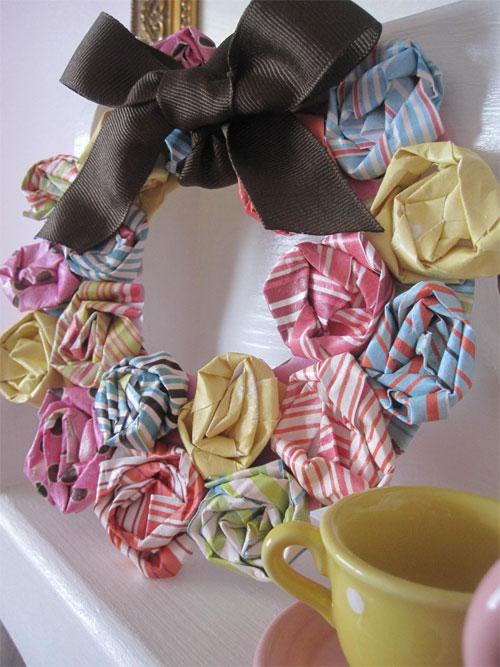 Corona flores de papel 1