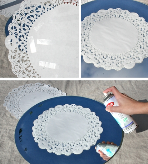 Decora un espejo con pintura gu a de manualidades for Como decorar un espejo rectangular sin marco