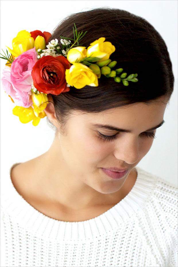 Vincha con flores 1