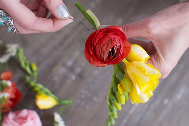 Vincha con flores 4