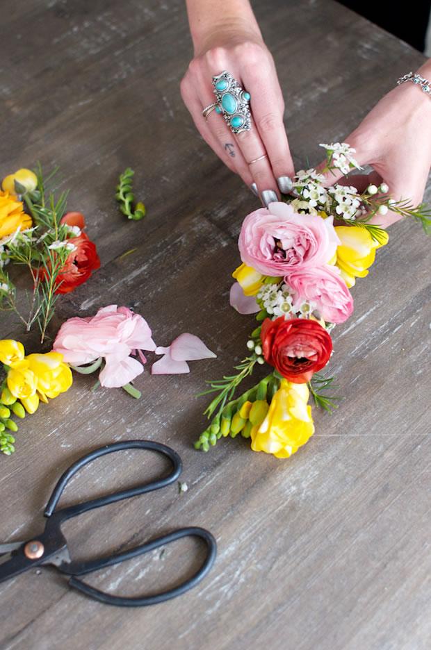 Vincha con flores 5
