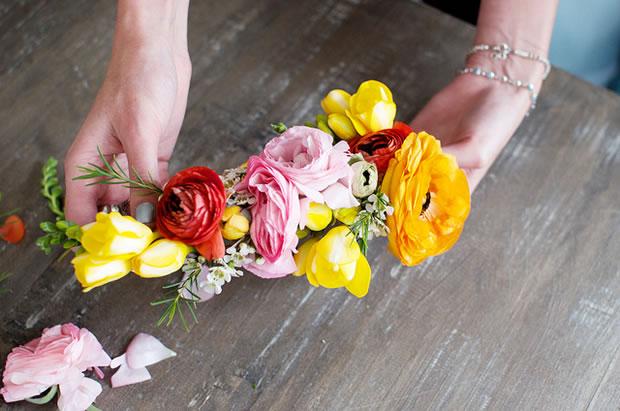Vincha con flores 6