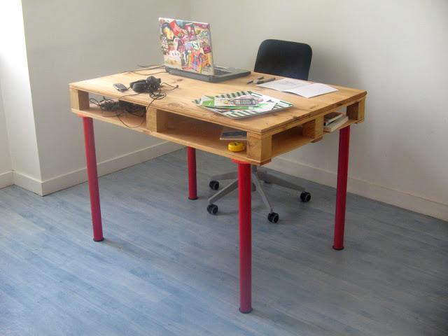 Mesa con un palet 1