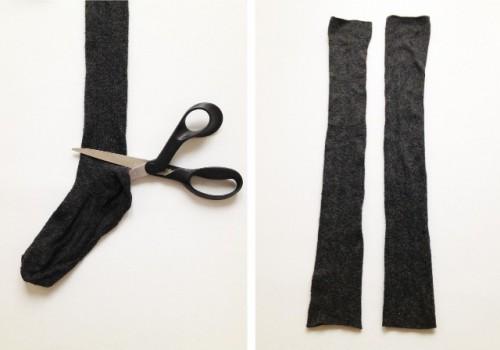 Guantes con calcetines 3