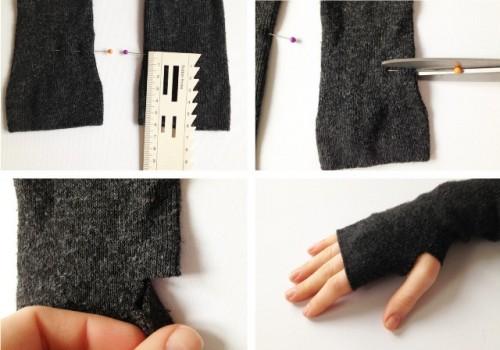 Guantes con calcetines 4