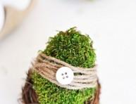 imagen Huevos decorados con musgo