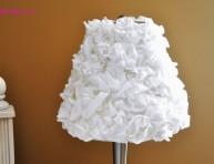 imagen Pantalla para lámpara con flores de tela