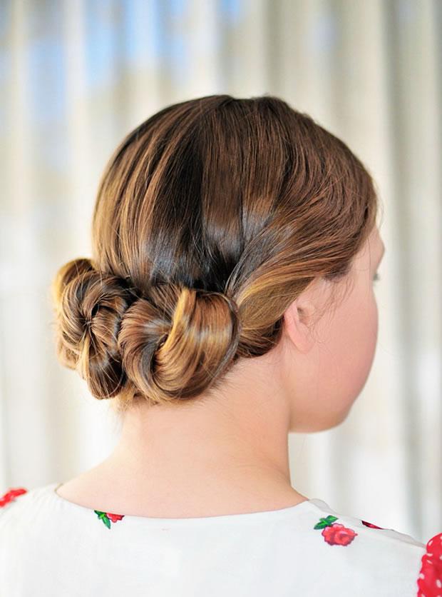 Peinado con rodete 1