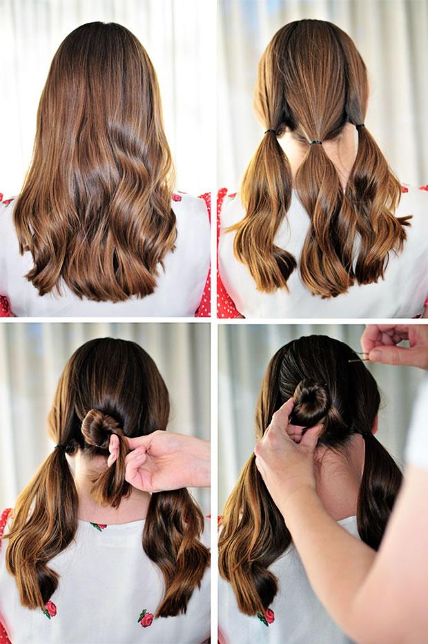 Peinado con rodete 2