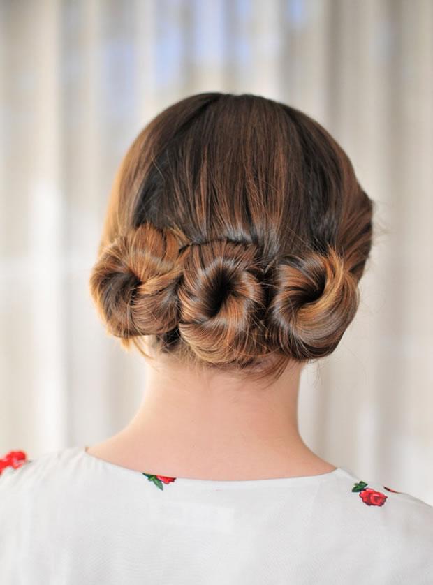 Peinado con rodete 3