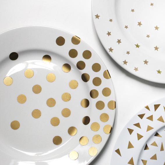 Platos decorados para fiestas