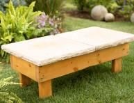 imagen Banco de piedra DIY para el jardín