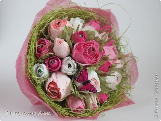 Flores de papel con dulces 1