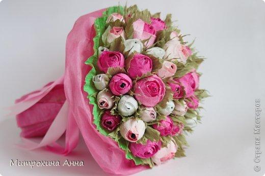 Flores de papel con dulces 15