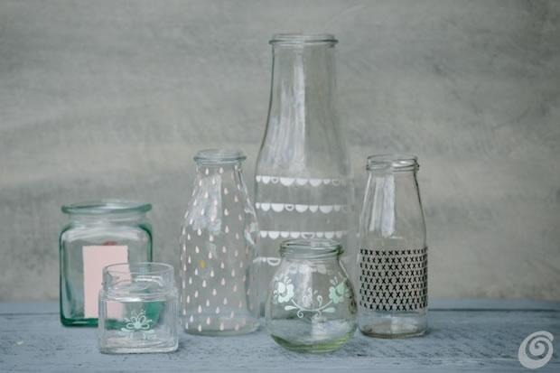 Frascos y botellas recicladas 4