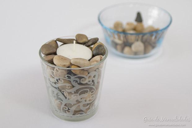 Ideas Para Decorar Un Baño Con Velas: de baño de colores A ésta podemos combinarla con las piedras y así