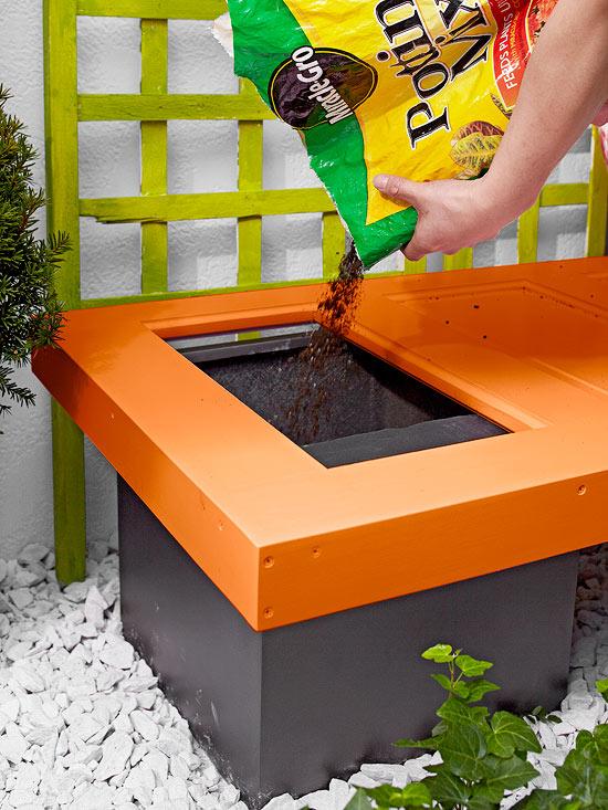 Banco de jardín DIY 10