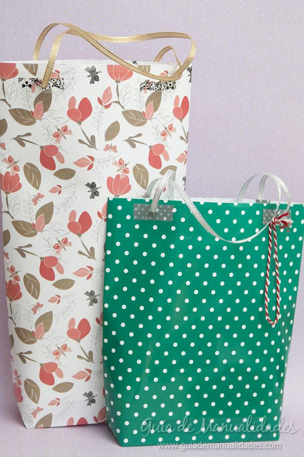 Hacer bolsas para regalo manualidades gratis - Bolsa de papel para regalo ...