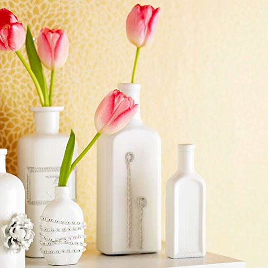 Botellas y floreros decorados 1