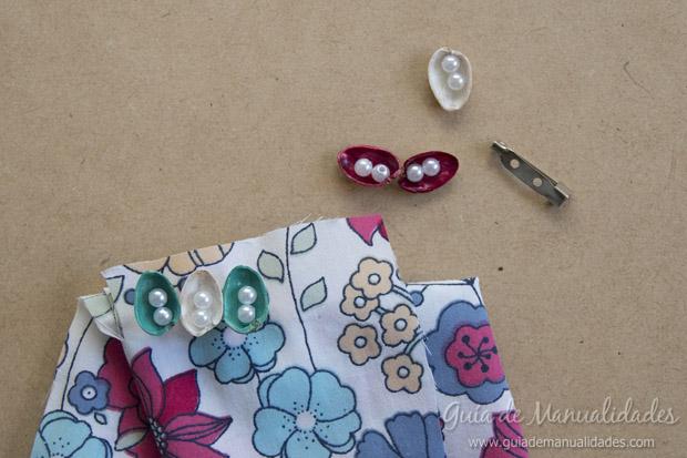 Broche con pistachos y perlas 7