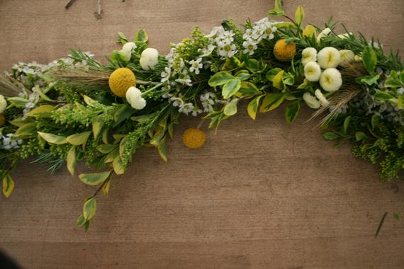 Guirnalda de flores frescas 1