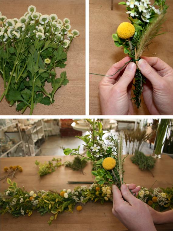 Guirnalda de flores frescas 3
