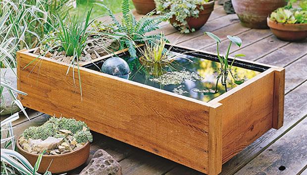 Fuente de madera DIY 1