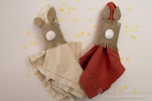 Servilleteros con forma de conejo 1