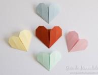 imagen Corazones de origami paso a paso