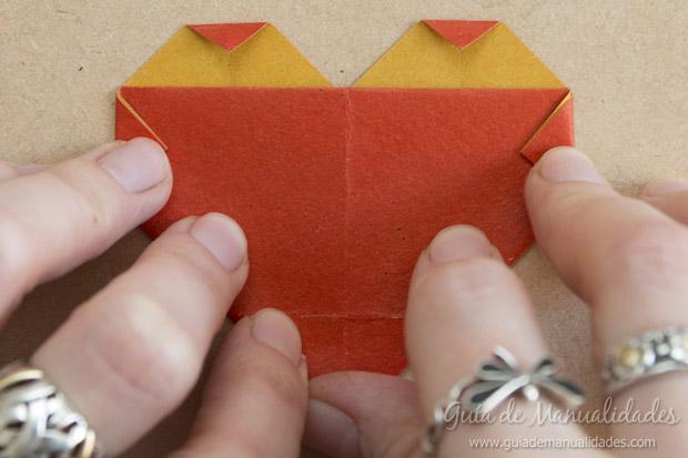 Corazón origami 10
