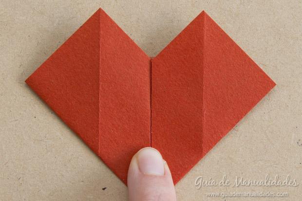 Corazón origami 8