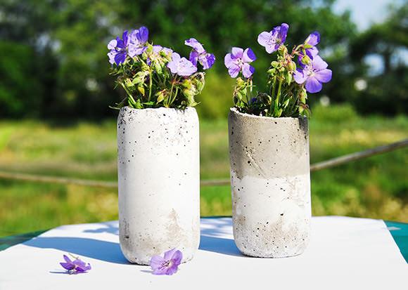Floreros de concreto 1