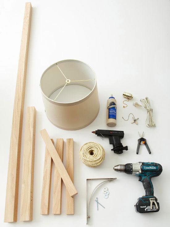 Lámpara diy de estilo rústico   guía de manualidades